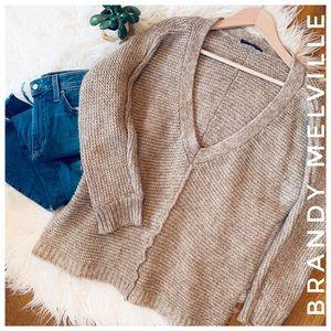 BRANDY MELVILLE vneck knit sweater one size fits